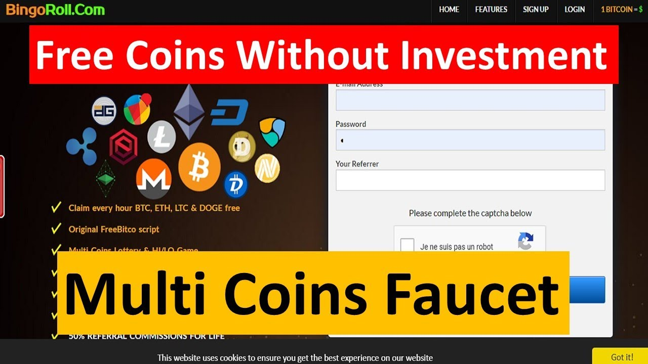 Multi Coins Faucets   Claim Every Hour Freee BTC .DOGE.ETH.LTC ...