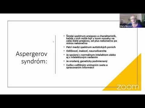 Webinár: Deti s Aspergerovým syndrómom a dištančné vzdelávanie