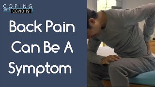 Back Pain Can be a Symptom l Coping with COVID-19