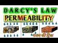 PERMEABILITY OF SOIL,DARCY'S LAW,   soil-(permeability~ lecture 1)