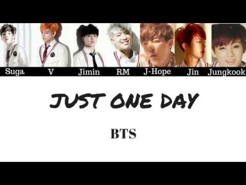 BTS - Just One Day (Lyrics)