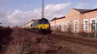 Powerful Class66 Diesel Locomotive start to Run!