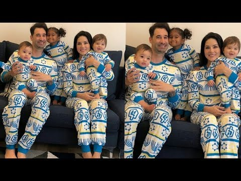Sunny Leone shared a lovely moment with her 3 kids and hubby Daneil in same dress