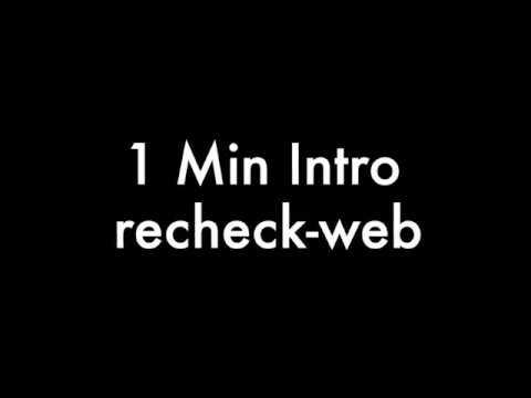 1 min recheck web tutorial thumbnail