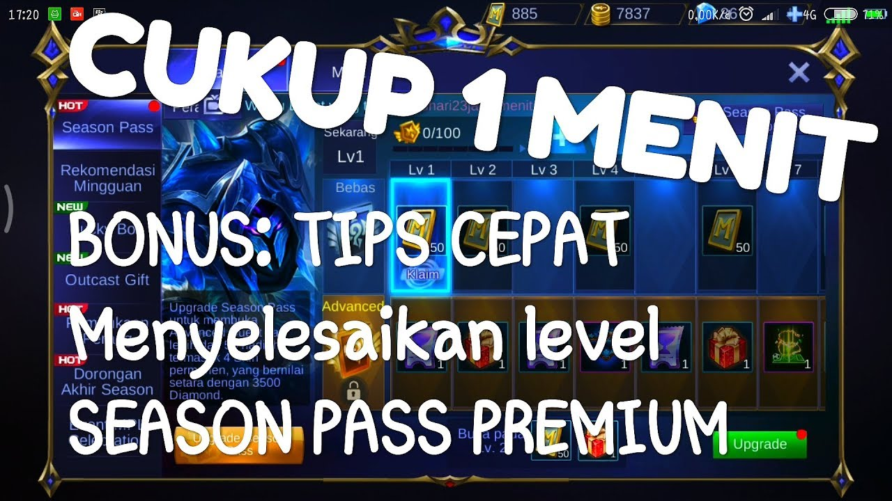Cara Upgrade Season Pass Premium Dengan Pulsa Mobile Legends Tips