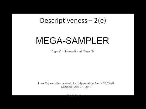 Common Trademark Application Problems - Davis McGrath IP Webinar Series - November 2, 2011