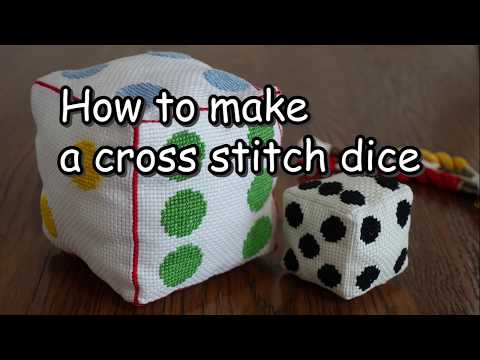 How to make a cross stitch dice