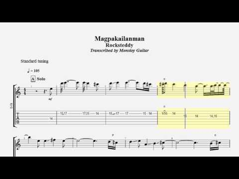 Guitar kanlungan guitar tabs : TAB SERIES 11 - Magpakailanman Rocksteddy Guitar Solo Slowed Down ...