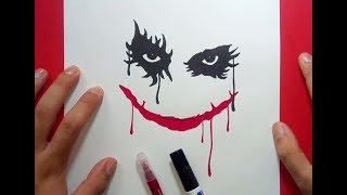 Como dibujar a el Joker paso a paso 2 - Batman | How to draw the Joker 2 - Batman