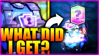 """Clash Royale :: """"SUPER MAGICAL CHEST"""" Opening! :: Amazing LEGENDARY CARD!"""
