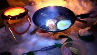 Зимняя ночная рыбалка на леща. Настоящий отдых рыбака.  Обогрев палатки. Горячая еда.