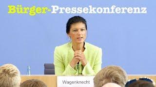 Sahra Wagenknecht (Linke) stellt sich Bürgerfragen - Tag der Offenen BPK-Tür 2017