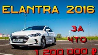 Обзор Hyundai Elantra 2016 2.0 Comfort. Тест Драйв новая Элантра, цена, сравнение, отзыв, изменения смотреть
