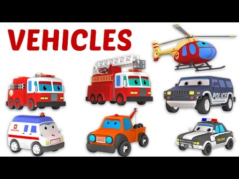Learn Names Of Vehicles For Kids Hindi Transport Vehicles For Kids