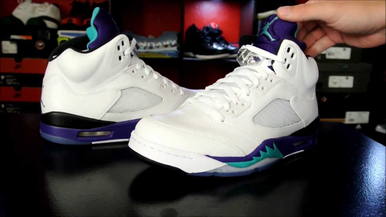 brand new 99dee 0f630 Air Jordan 5 Retro 'Grape' 2013 - YouTube