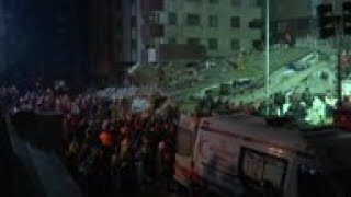 Person rescued from collapsed Istanbul building