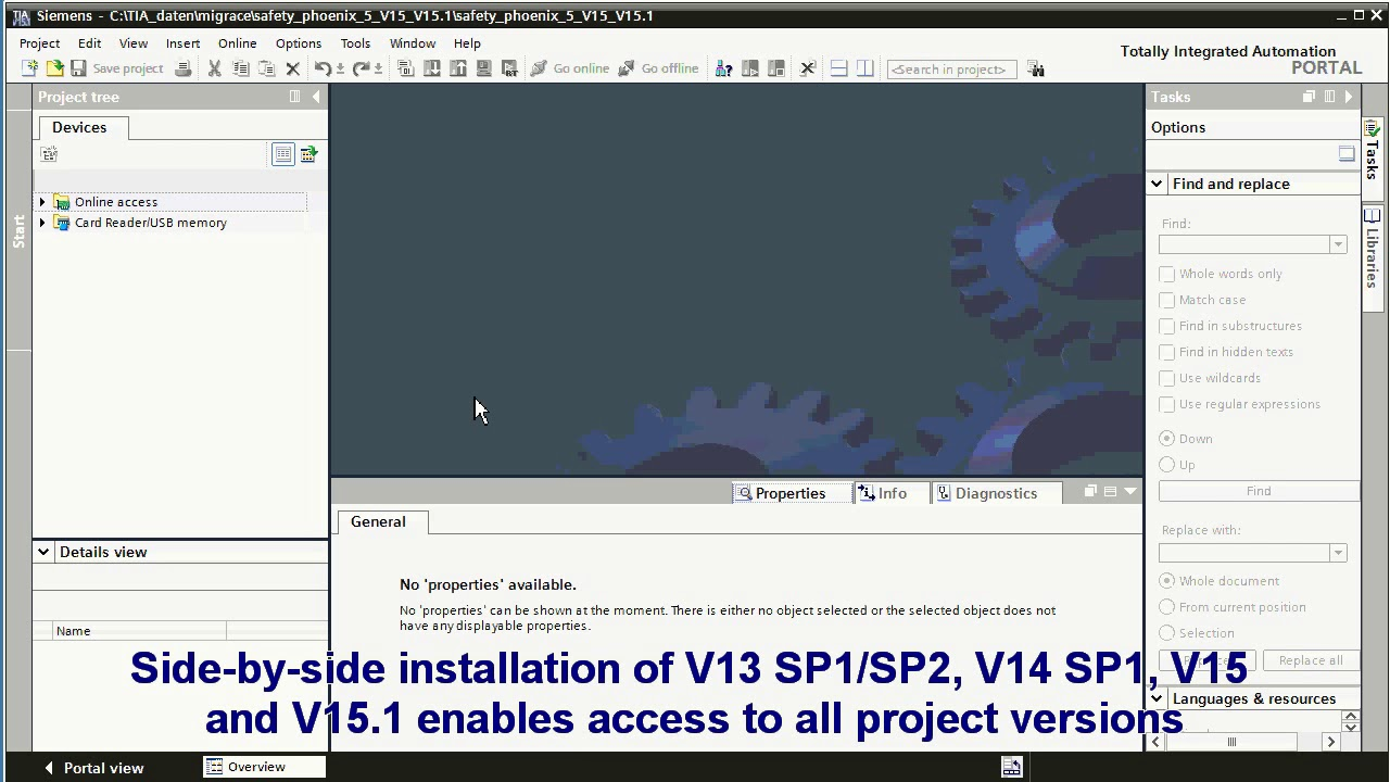 Upgrade safety projektu V15 do verze 15 1 / The safety project upgrade V15  to V15 1