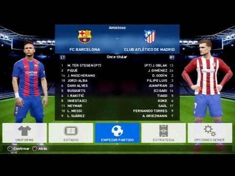 PES 2017 PS3 GAMEPLAY - BARCELONA vs ATLETICO DE MADRID (Nivel Leyenda)