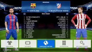 PES 2017 PS3 GAMEPLAY - BARCELONA vs ATLETICO DE MADRID (Nivel Leyenda)