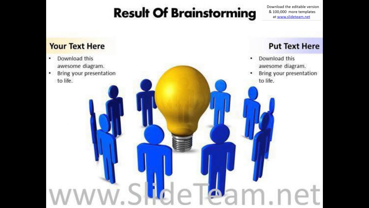 Result of brainstorming editable powerpoint templates presentation result of brainstorming editable powerpoint templates presentation infographics slides youtube ccuart Image collections