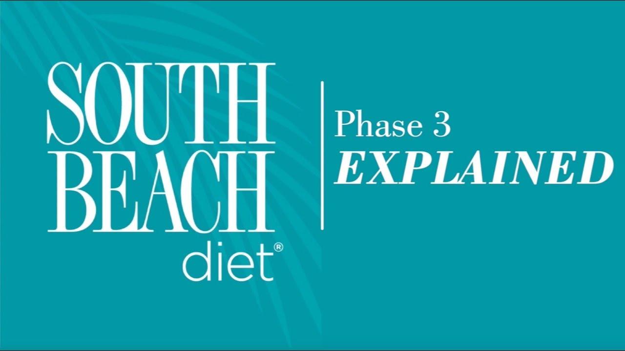 south beach diet phase three