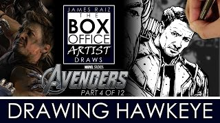 AVENGERS AGE OF ULTRON Part 4 of 12: DRAWING JEREMY RENNER AS HAWKEYE