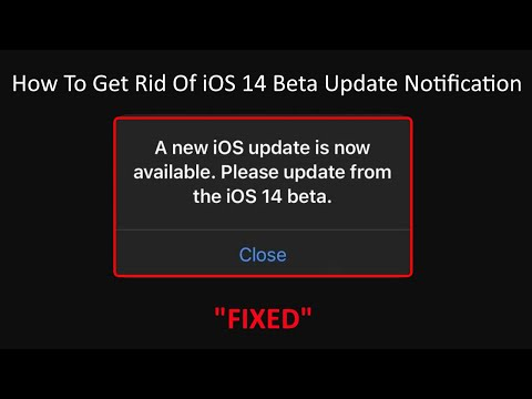 How to Get Rid of iOS 14 Beta Update Notification Pop Up