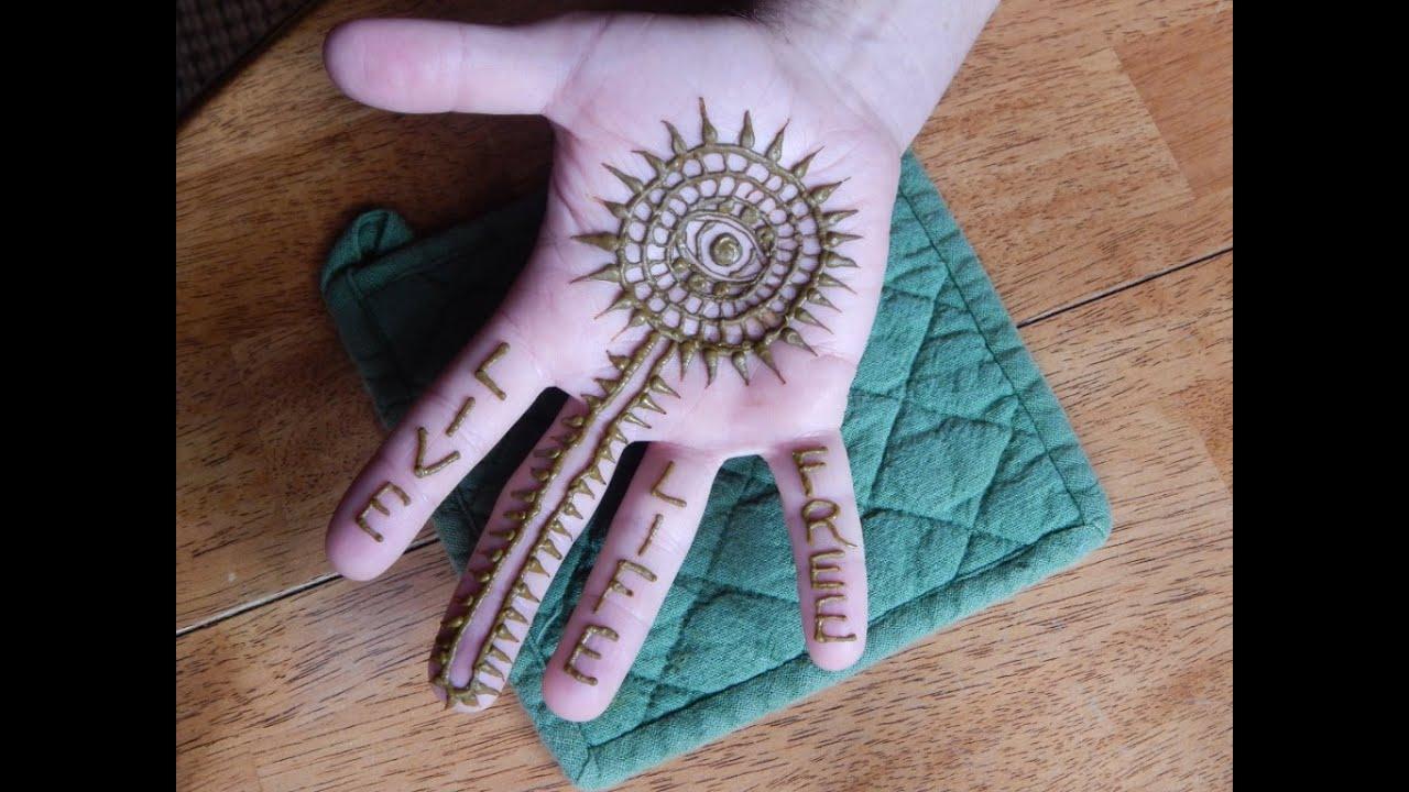 Mehndi Hand With Eye : Gypsy evil eye henna youtube