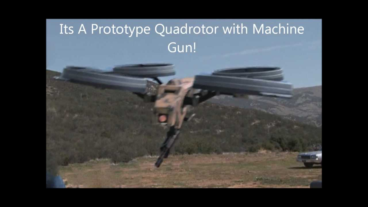 quadrotor with machine gun