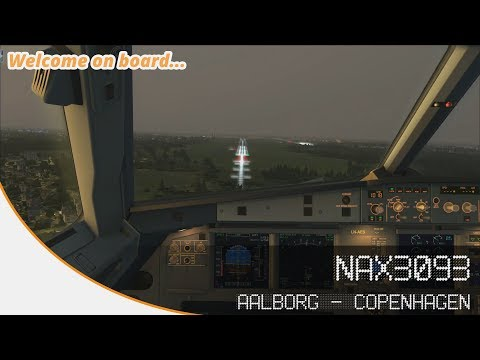Welcome on board... NAX3093 | FSX | Aalborg (EKYT) - Copenhagen (EKCH) | Aerosoft A320
