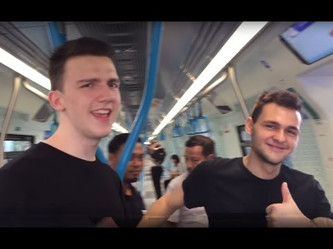 MRT Kuala Lumpur: German boys trying German made train on first day of operation