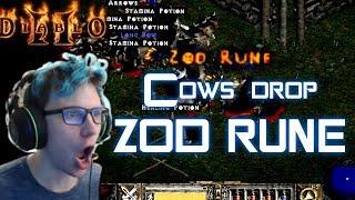Zod Drop from The Secret Cow Level - Diablo 2 - Xtimus