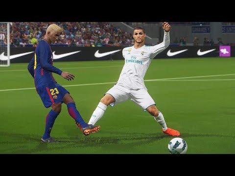 BARCELONA DO BINHO VS REAL MADRID DO CR7, FINAL EMOCIONANTE - PES 2018 - RUMO AO ESTRELATO #104