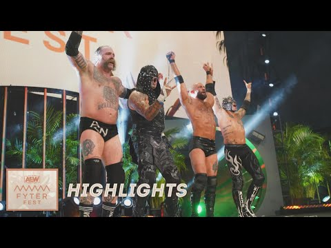 HIGHLIGHTS: THE YOUNG BUCKS & FTR VS THE BUTCHER THE BLADE & THE LUCHA BROS | FYTER FEST NIGHT 2