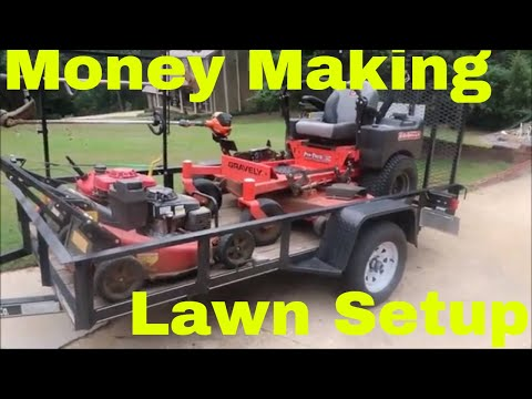Great Lawn Care Equipment Setup For Making Money