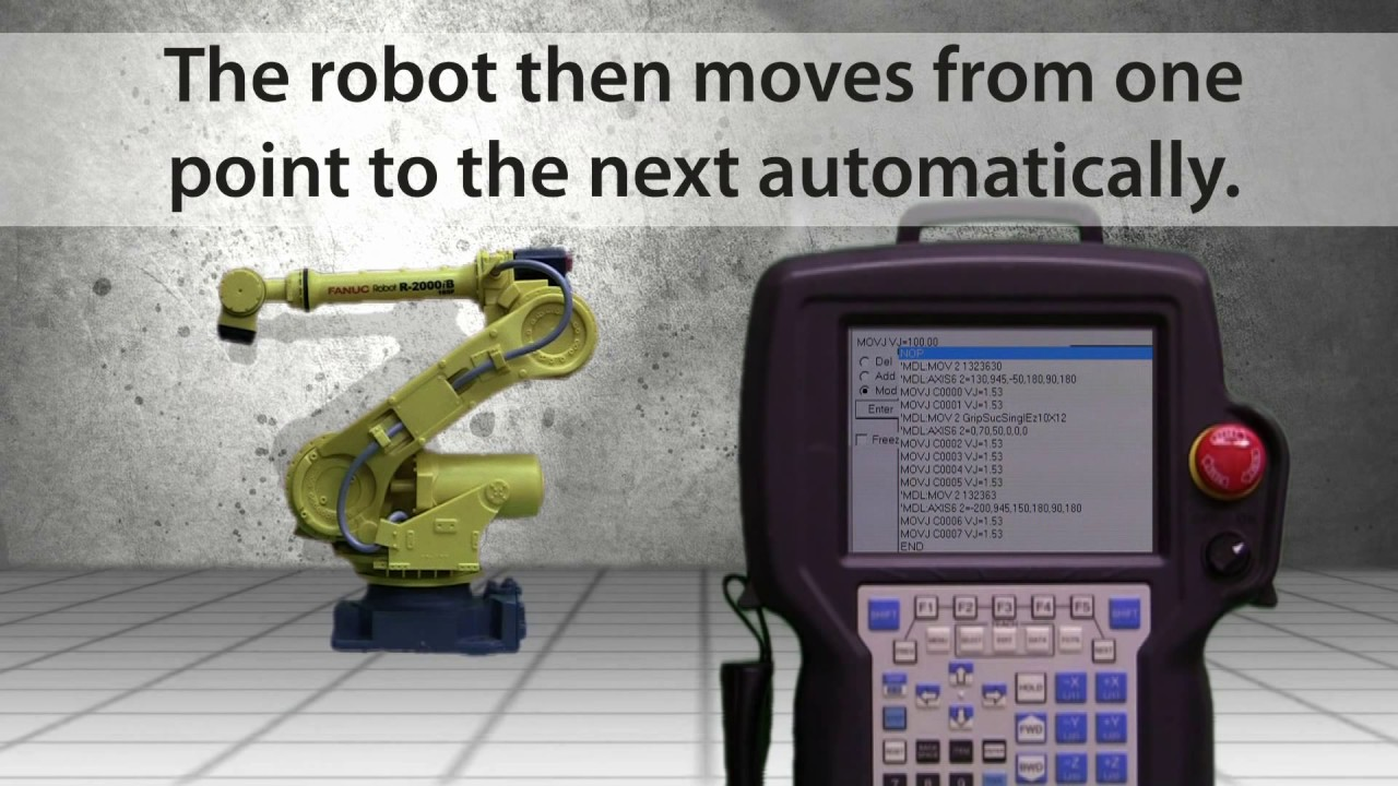 how 6 axis industrial robots work youtube rh youtube com Fanuc Teach Pendant Simulator Fanuc Teach Pendant Simulator