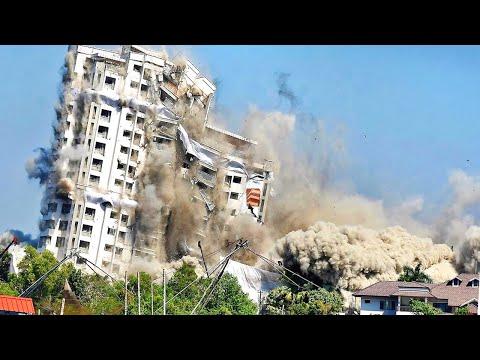 Amazing Construction Demolitions With Industrial Explosives ! Bridges & Building Demolition Videos