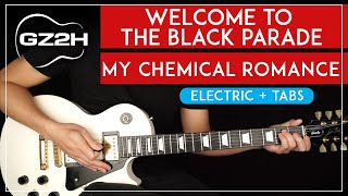 Welcome To The Black Parade Guitar Tutorial My Chemical Romance Guitar Lesson  All Guitar Parts 