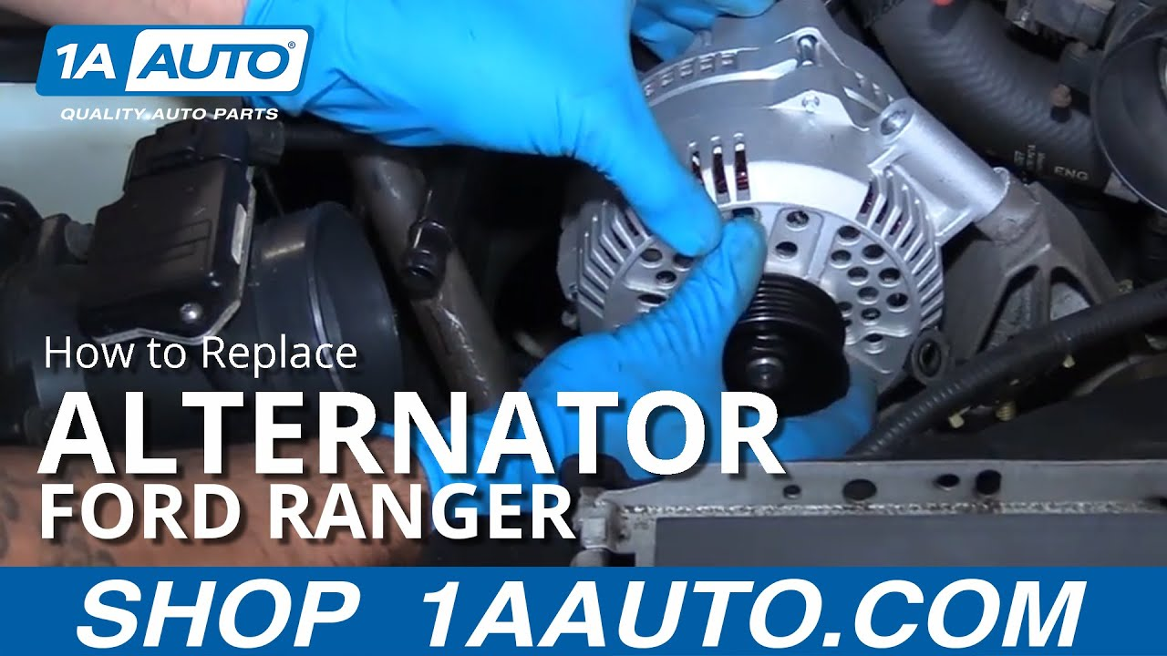 how to replace alternator 98 12 ford ranger 4 0l v6 [ 1280 x 720 Pixel ]