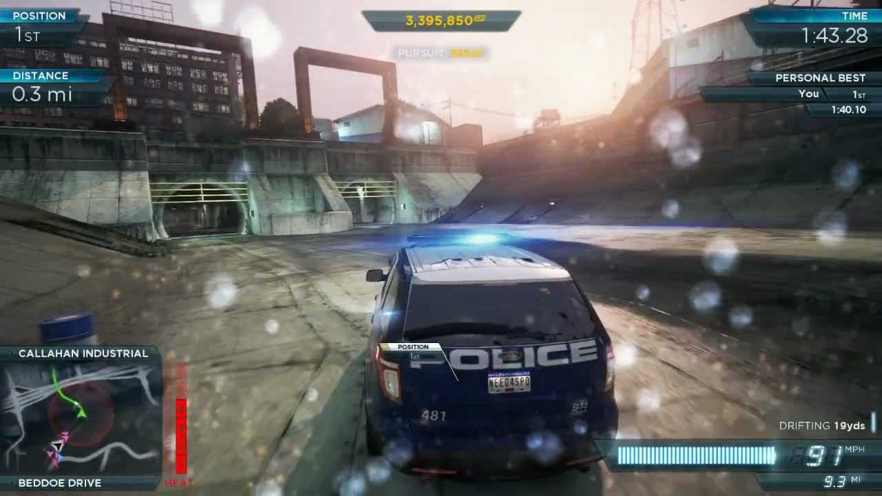 NFS Most Wanted 2012 Police Ford Explorer SUV Interceptor Pro Mods