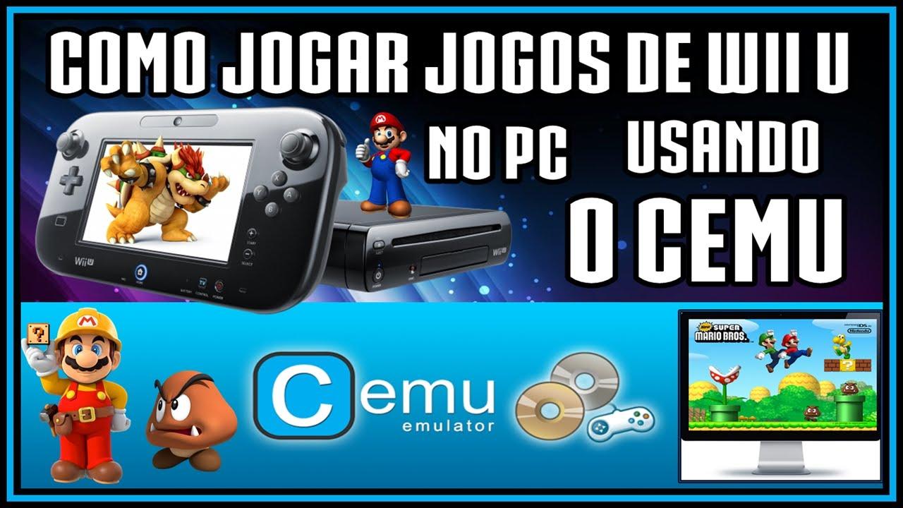 (CEMU Atualizado) Como jogar jogos Wii U no PC - Configurando controles +  Bug save Mario Maker