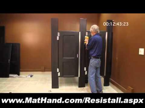 Resistall Plastic Toilet Partition Install Video Material Handling - Diy bathroom partitions