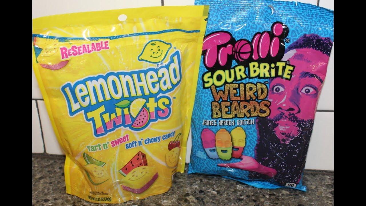 Lemonhead Twists & Trolli Sour Brite Weird Beards James Harden Edition  Candy Review