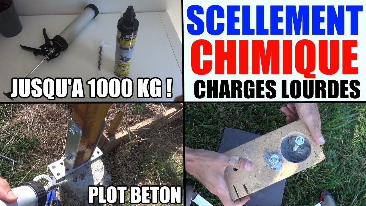 Scellement chimique fixer pieds poteau acier b ton parpaing creux pierre briq - Comment faire un scellement chimique ...