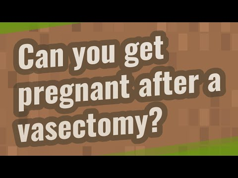 Can you get pregnant after a vasectomy?