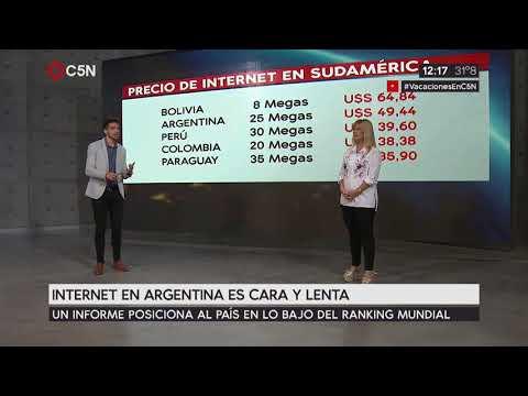 Internet en Argentina lenta y cara