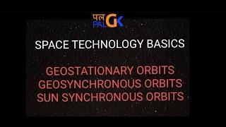 Space Technology Baiscs :Geostationary orbit, Geosynchronous orbits and Sun synchronous orbit