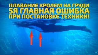 Плавание кролем на груди: 5я главная ошибка при постановке техники!