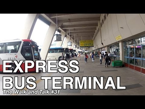 Seoul's Express Bus Terminal - The Walk and Talk #31