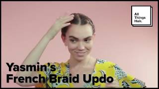 How to Create a French Braid Updo